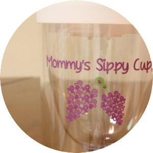 Mommys Sippy Cup with White Top for Sale